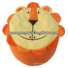 Lovely And Practical Plush Lion Inflatable Stool For Kids