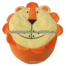 Прекрасный и практичный плюшевый Лев Надувной табурет для детей