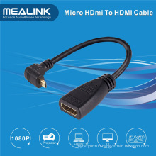 High Speed 90 Angle Mirco HDMI to HDMI Cable