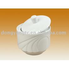 Recipiente de especiarias de porcelana por atacado direto de fábrica com tampa