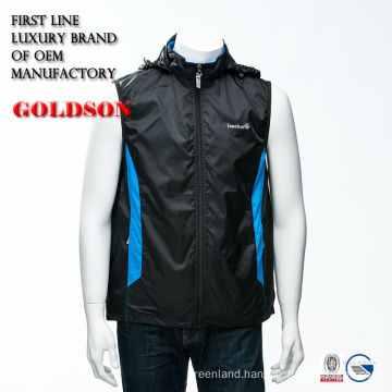 Top brand casual men spring vest with detachable hood and OEM production