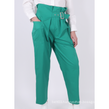 LADIES HIGH-WAIST SKINNY TROUSERS