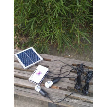 Solar Rural Markets Lighting Light System with Golden 3W Silver 1W LED Lamp