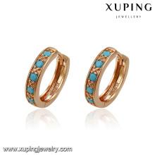93401 Promotion bijoux à la mode simplement style design personnalisé turquoise femmes huggies boucles d'oreilles