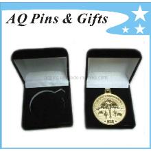 Caixa de veludo para moedas com cores diferentes