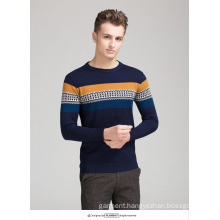 OEM Sweater Graphic Pattern 100% Cotton Men′s Sweater