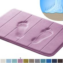 Tapis de bain en mousse mémoire violet foncé Comfity