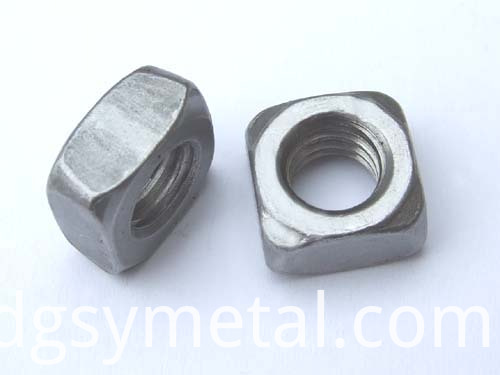 carbon square nuts