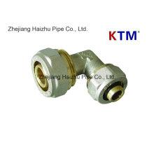 Instalación de tuberías de cobre amarillo de Ktm - codo igual para la tubería de Pex-Al-Pex