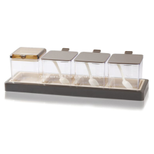 Plastic Spice Jars Seasoning Box Chocolate Color