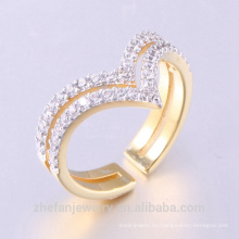 Los últimos diseños Couple Ring Gold Plating Wedding Rings