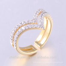 Последний Дизайн Пара Кольцо Плакировкой Золота Обручальные Кольца