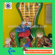 El mejor trono inflable del regalo para los cabritos