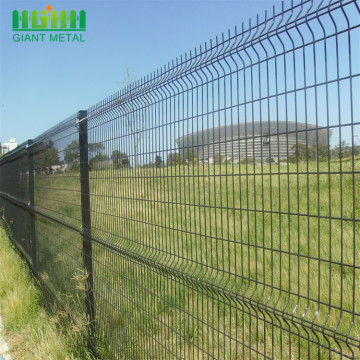 Hebei Giant Black PVC Coated Triangle Bending Fence