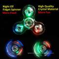Nouveau Cristal LED Main Fidget Clair Flash Lumière EDC Finger Tri Spinner Pour Autisme TDAH Relief Focus Anxiété Stress Relax Cadeau Jouets