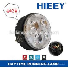 3inch rodada LED luz diurna para caminhão e reboque IP67 caminhão cauda lâmpada impermeável farol de nevoeiro traseiro