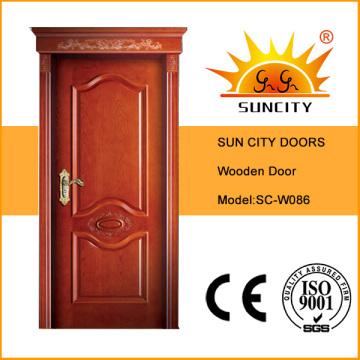 Классический роскошный интерьер одного из тика, дуба деревянные дверные конструкции (СК-W086)