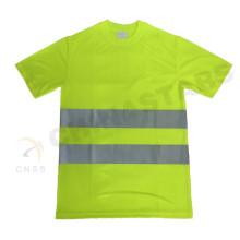 EN 471 genehmigte gelbe Farbe fluoreszierende Sicherheit T-Shirt