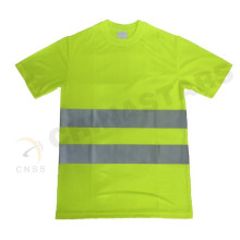 EN 471 approved yellow color fluorescent safety T shirt