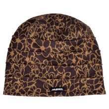 Printed flower plush thickening leisure crease flat-topped head beanie cap