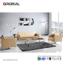Orizeal contemporain en cuir canapé avec canapé en bois cadre à vendre (OZ-OSF017)