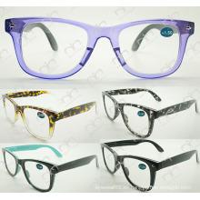 Gafas de moda de doble color para unisex 2015 gafas de lectura (wrp504207)