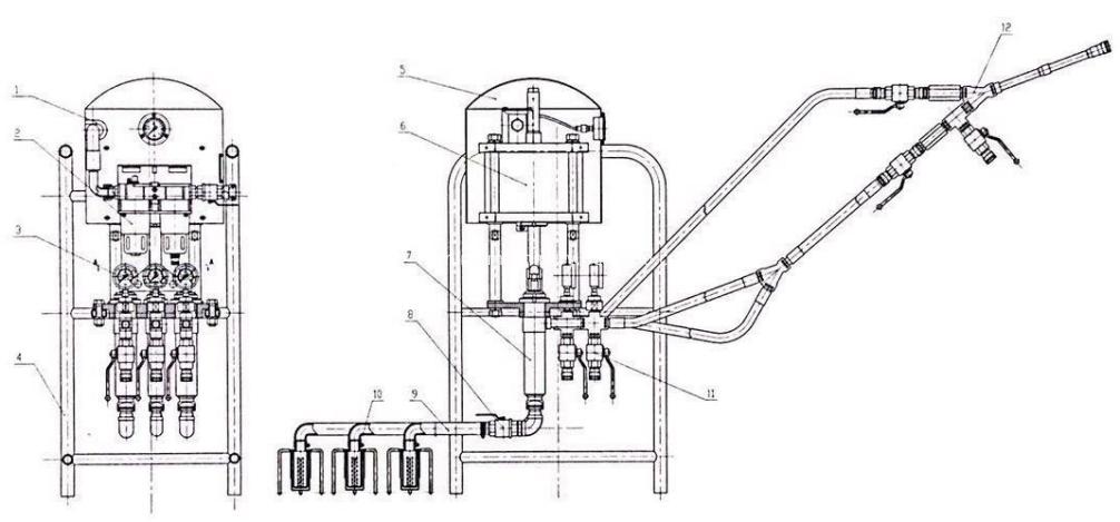 Pneumatic Dual Fluid Injection Pump chart