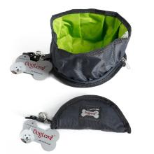 Bol de chien pliable portatif de chien d'eau de nourriture d'animal familier de chien de voyage