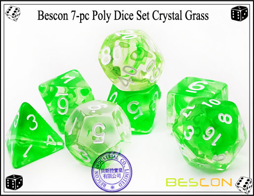 Crystal Green Dice Set-2