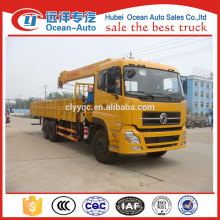 Dongfeng kinland 6x4 heavy duty 10 ton hydraulic truck crane for sale