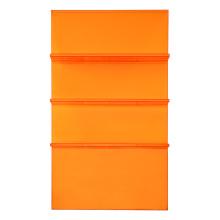 Estante moderna de acrílico escada laranja