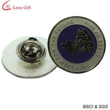 Wholesale Enamel Silver Round Badge for Promotion Gift (LM1741)