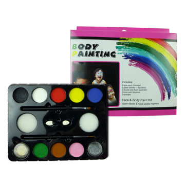 Kinder Halloween Make-up Gesichtsmalerei Palette mit Glitzer