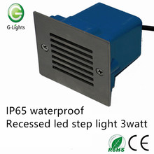IP65 waterproof recessed led step light 3watt