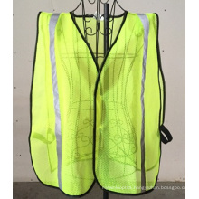 Reflective Safety Vest, Made of 100% Polyester Mesh Fabric