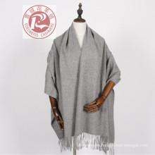 100% productos de stock de chal de bufanda de lana