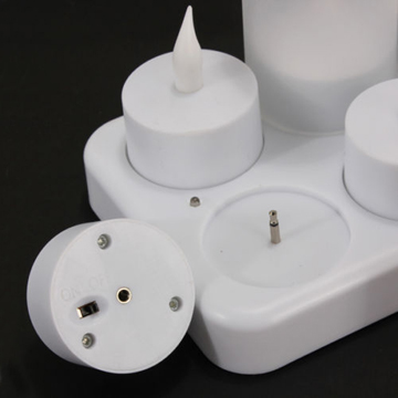 Plug uppladdningsbara votive LED tealight candle