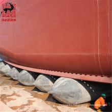 Durable pneumatic ship launching marine rubber airbags