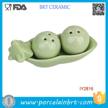 Creative Ceramic Two Peas in a Pot Salt and Pepper Shaker