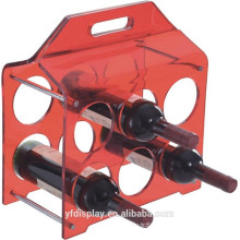 Red Acrylic Wine Display Holder For Sell