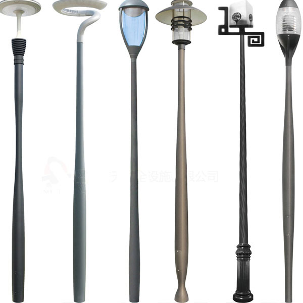 Multifarious Cast Aluminum Garden Light Pole
