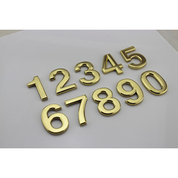 Flat Cut Brass House Numbers Dörrskyltar