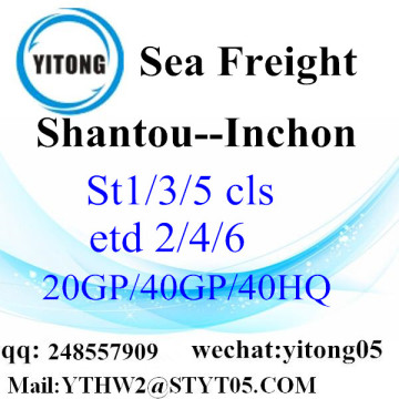 Global Shipping à Inchon Shantou
