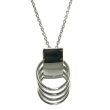 Alta calidad y collar de plata de la joyería 925 de la mujer de la manera (N6813)