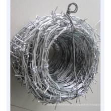Arame farpado galvanizado (BWG 12X14, BWG 16X16)