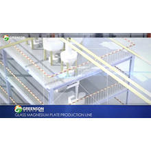 Fireproof magnesium oxide wall board making machine / production line