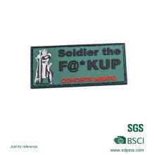 Insigne adapté aux besoins du client de correction de PVC d'armée pour le club (XDP-01)