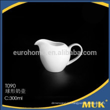 Eurohome royal hotel style round design milk white ceramic milk jug