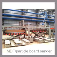 Lijadora de cinta de dos cabezas para MDF / tableros de partículas / HPL
