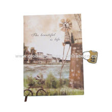 2015 Hard Cover Notebook with Gift Box and Combination Lock